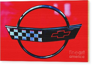 Wood Print featuring the digital art Chevrolet Corvette by Tony Cooper
