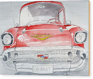Chevrolet Wood Print by Eva Ason