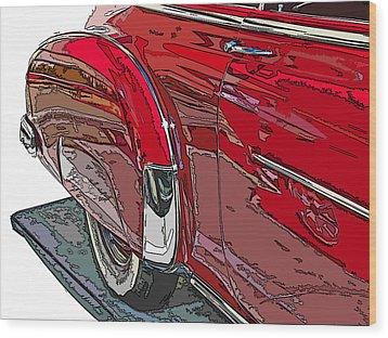 Chevrolet Fleetline Deluxe Rear Wheel Study Wood Print by Samuel Sheats