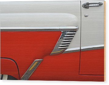 Chevy Door Wood Print by Frozen in Time Fine Art Photography