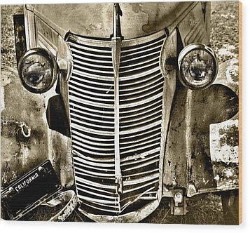 Wood Print featuring the photograph Chevy Grill Work by William Havle