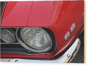 Wood Print featuring the photograph Chevy S S Emblem by Bill Owen