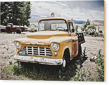 Chevy Taxi Cab  Wood Print by Sheri Van Wert