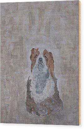 Chiari Dog Wood Print by Roy Penny