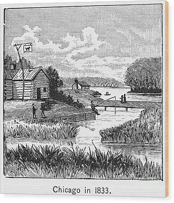 Chicago, 1833 Wood Print by Granger