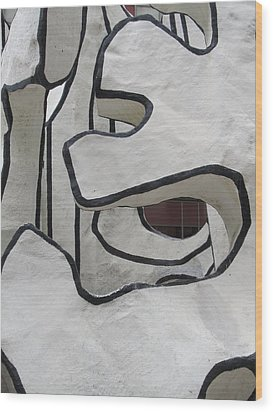 Chicago Dubuffet-1 Wood Print by Todd Sherlock