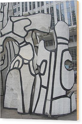 Chicago Dubuffet-2 Wood Print by Todd Sherlock