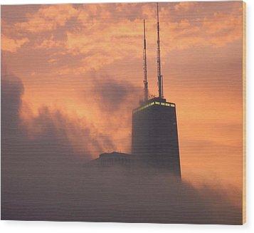 Chicago Dusk Wood Print