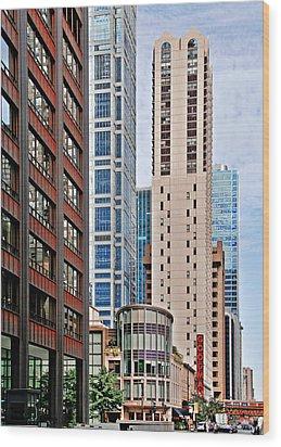 Chicago - Goodman Theatre Wood Print by Christine Till