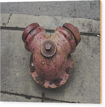 Chicago Hydrant Wood Print by Todd Sherlock