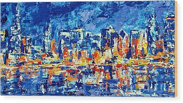 Chicago Lake Front Wood Print by Kat Griffin