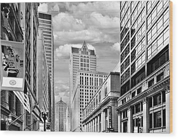 Chicago Lasalle Street Wood Print by Christine Till