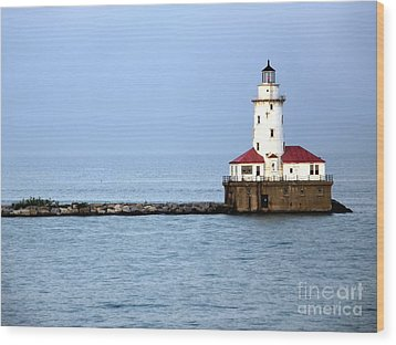Chicago Lighthouse Wood Print by Sophie Vigneault