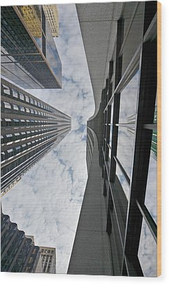 Chicago - Look Towards The Sky Wood Print by Christine Till