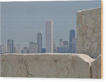 Chicago Wood Print by Odd Jeppesen