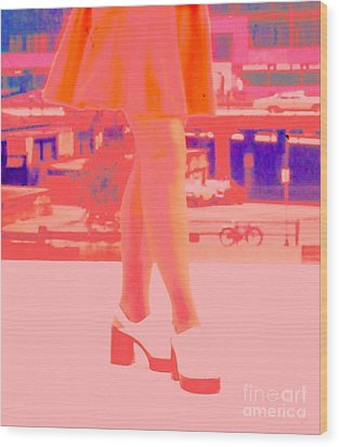 Wood Print featuring the photograph Chicago Vintage Chic by Ann Johndro-Collins
