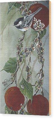Chickadee Too Wood Print