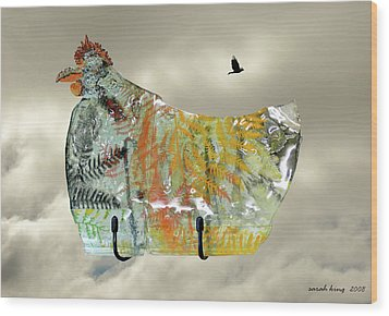 Chicken Pie Wood Print by Sarah King