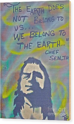 Chief Sealth Wood Print by Tony B Conscious