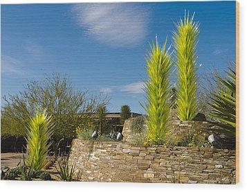Chihuly In Arizona Wood Print by Jim Gilbert