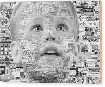 Child Of 21st Century Wood Print by Gabriela Insuratelu
