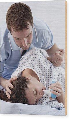 Childbirth Wood Print by