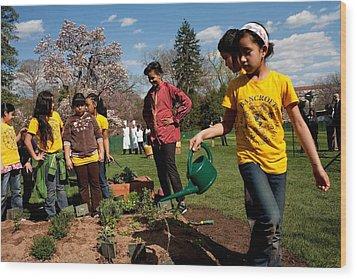 Children From Bancroft Elementary Wood Print by Everett