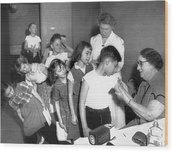 Children Inoculated Against Diphtheria Wood Print by Everett