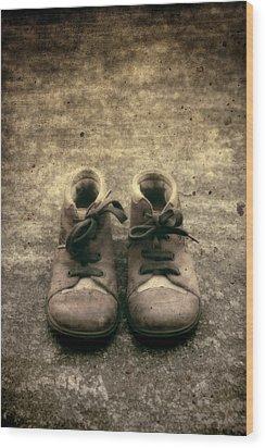 Children's Shoes Wood Print by Joana Kruse