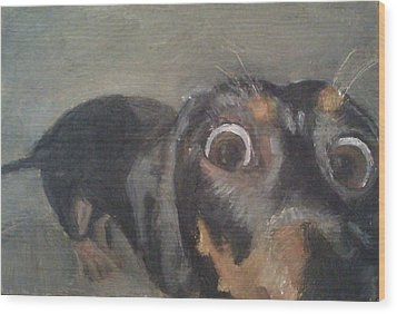 Wood Print featuring the painting Chili Dog by Jessmyne Stephenson