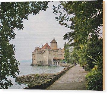 Chillon Castle Wood Print by Marilyn Dunlap