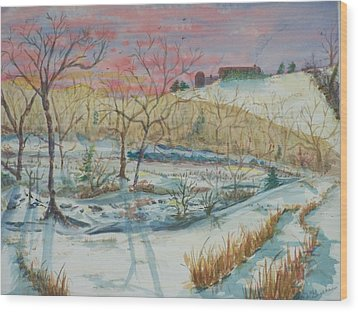 Chilly Morning Wood Print by Barbara McGeachen