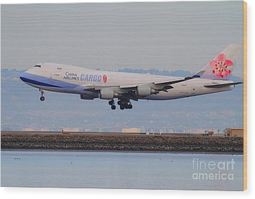 China Airlines Cargo Jet Airplane At San Francisco International Airport Sfo . 7d12301 Wood Print by Wingsdomain Art and Photography