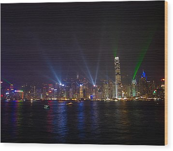 China-hong Kong Wood Print by Mark Simons Photography