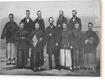 China: Missionaries, 1876 Wood Print by Granger