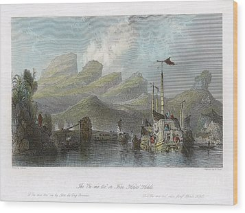 China: Mountains, 1843 Wood Print by Granger
