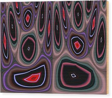 Chinara No.4 Wood Print by Danny Lally