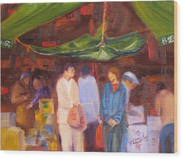 Chinatown  Vancouver Wood Print by Mohamed Hirji