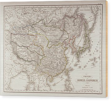 Chinese And Japanese Empires Wood Print by Fototeca Storica Nazionale