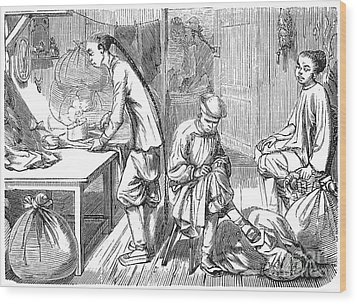 Chinese Immigrants, 1855 Wood Print by Granger