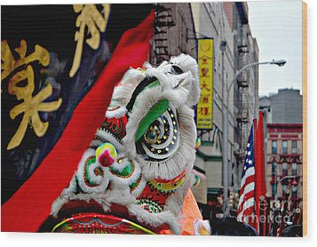 Chinese New Years Nyc  4704 Wood Print by Mark Gilman