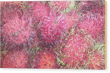 Chinese Plums  Wood Print by Paul SEQUENCE Ferguson             sequence dot net