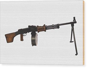 Chinese Type 56 Light Machine Gun Wood Print by Andrew Chittock