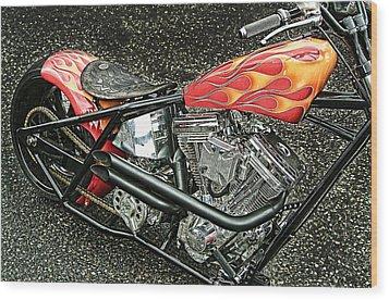 Chopper Wood Print by Mauro Celotti