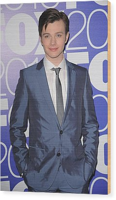 Chris Colfer In Attendance For Fox 2010 Wood Print by Everett