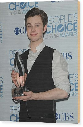 Chris Colfer In The Press Room Wood Print by Everett