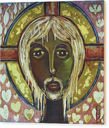 Christ Wood Print by Andrew Osta