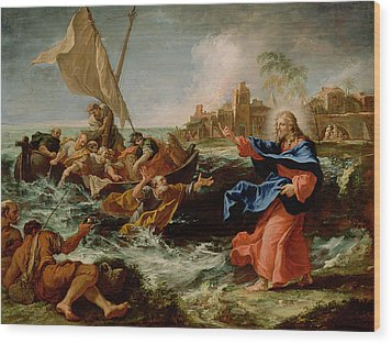 Christ At The Sea Of Galilee Wood Print by Sebastiano Ricci