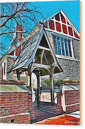Christ Church Of St Michaels Wood Print by Stephen Younts