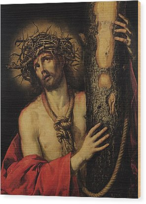 Christ Man Of Sorrows Wood Print by Antonio Pereda y Salgado